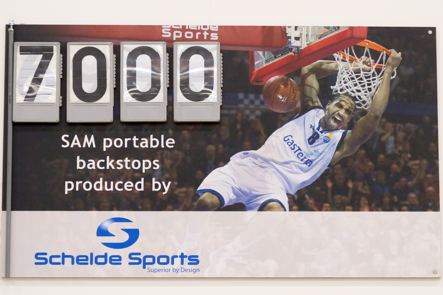 7000th basketball backstop Schelde Sports